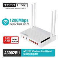 TOTOLINK Wifi routeur A3002RU AC1200 sans fil double bande Gigabit routeur avec Port USB routeurs sans fil livrer de la russie