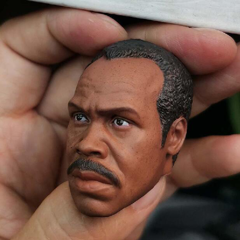 Delicate Painting Hot 1//6 Scale Lethal Weapon Danny Glover Head Sculpt Fit 12/""
