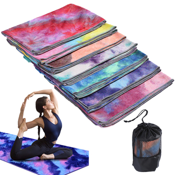 Yoga Mat Yoga Towel Printed Yoga Towel Non-Slip Printed Tie-dye Yoga Fitness Towel Sports Fitness Exercise Yoga Mat yoga cures