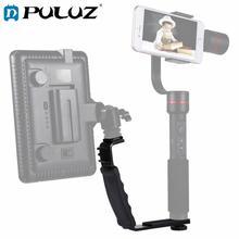 PULUZ L-Shape Bracket For Camera Handheld Grip Holder+Dual Side Cold Shoe Mounts For Video Light Flash DSLR Camera цена и фото