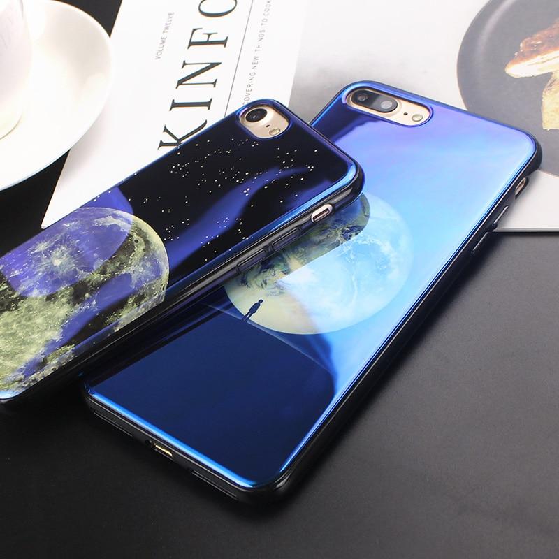 JAMULAR Electroplate Cahaya Biru Lembut Phone Cover untuk iPhone X XS - Aksesori dan suku cadang ponsel - Foto 5