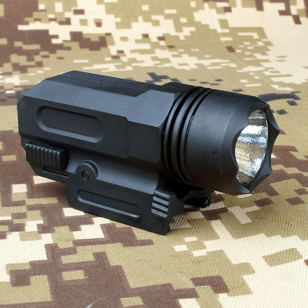 LED av tüfeği tüfek Glock Gun flaş işığı taktik el feneri el feneri bırakma 20mm dağı tabanca Airsoft