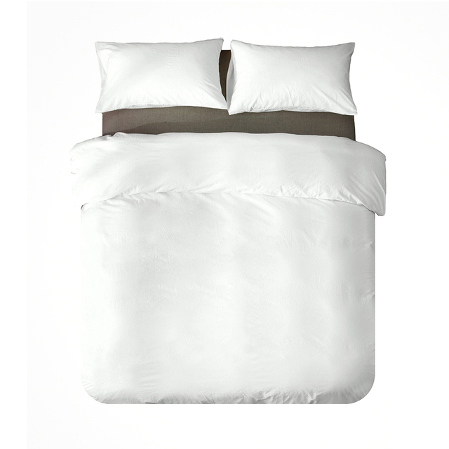 Luxury 100% Cotton Duvet Cover Set High-end Bedding Set Queen King Size 3Pcs White Black Blue Gray Pink Duvet Cover 2