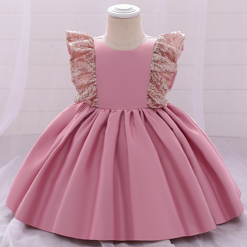 2021 Christmas Dress 1 Year Birthdays Dress For Baby Girl Clothes Toddler Christening Princess Party Dresses Infant Girl Sequin