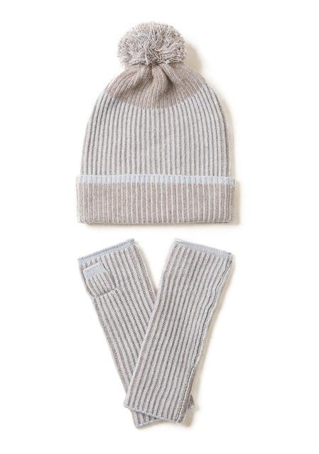 Фото новейший новый дизайн вязаная шапка из кашемира и перчатки две