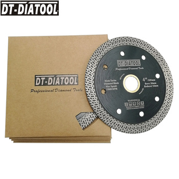 цена на DT-DIATOOL 5pcs/pk Dia 4/4.5/5 Mesh Turbo Diamond Saw blade Diamond Cutting Disc for Hard material Granite Marble Cutter