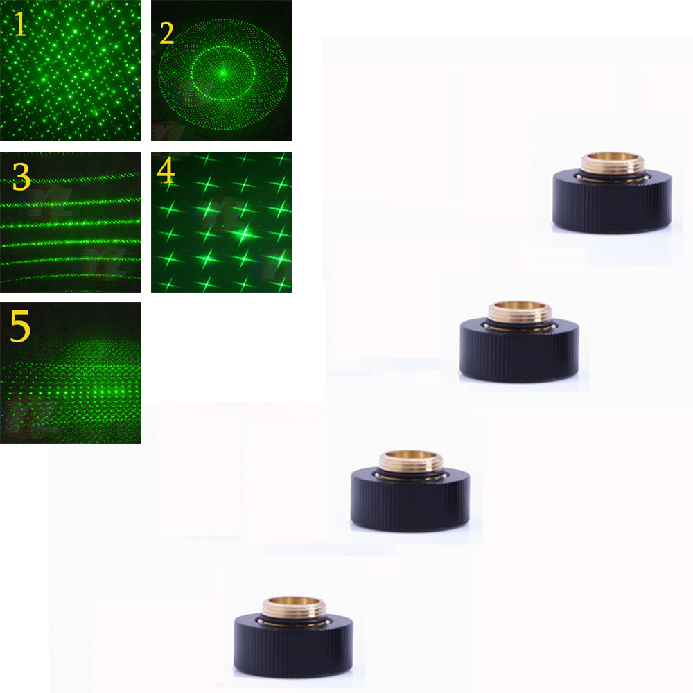 1Pcs303 original laser head Green laser sight adjustable focus laser with star cap (only for laser 303)