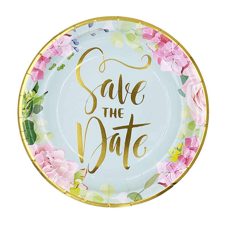 """64 шт./компл. буквы """"Bride to be"""" одноразовая посуда фольга из золотой бумаги пластина салфетка для чашек девичник вечерние украшения свадебные принадлежности"""
