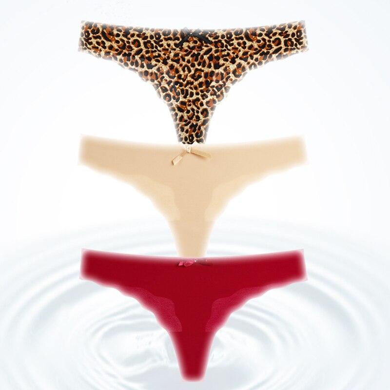H2241acc90e6b40eebd21b4e8efa6c8fbZ Fashion Women Seamless Panties Ice Silk Underwear G-String Thong Underpants Ultra-thin Sexy Lingerie Briefs Hipster Intimates