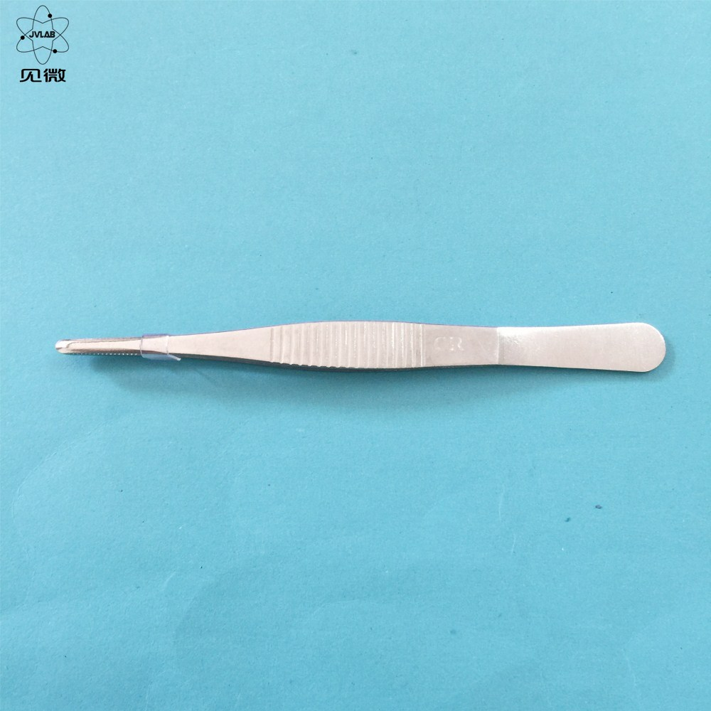 Auxiliary Tweezers Laboratory Stainless Steel Straight Surgical Forceps 12.5cm Extraction Excipients Home Handy Tool