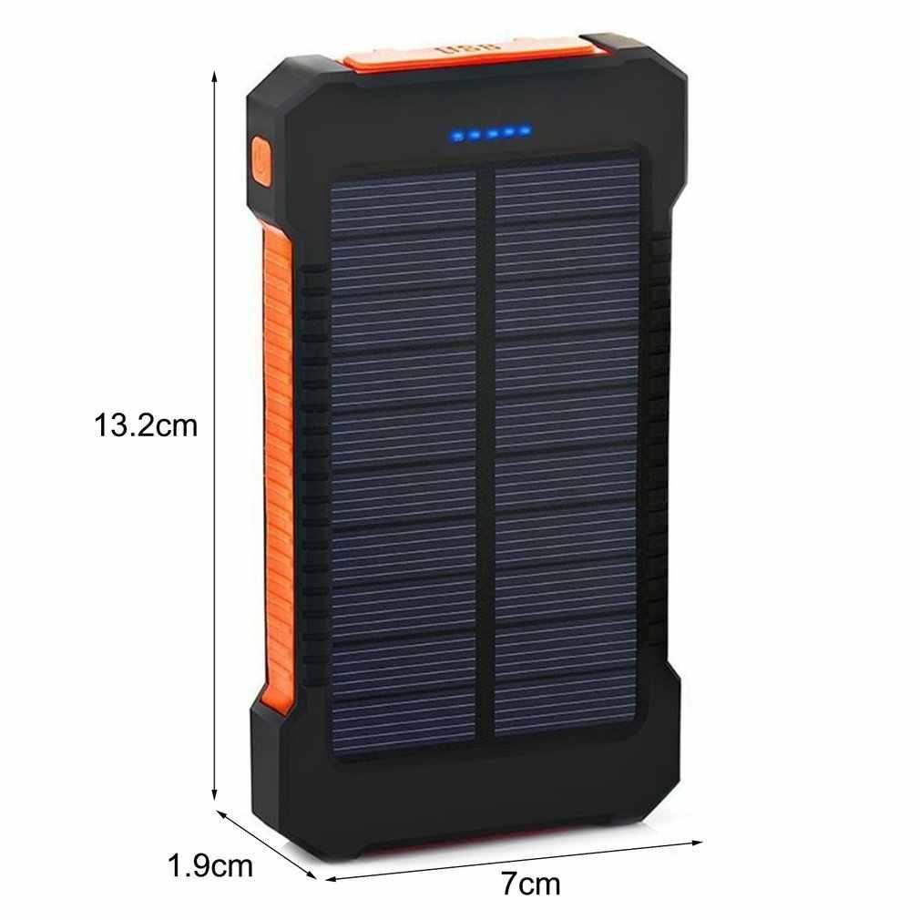 30000Mah Draagbare Zonne Externe Batterij Oplader Batterijen Reizen Backup Batterij Power Bank Voor Iphone X 6 7 8 Plus