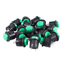 20Pcs 3A/AC250V Mini Waterproof Pushbutton Switch Momentary Type Plastic Head(China)