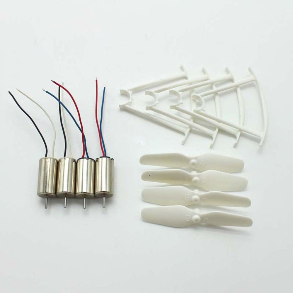 4pcs RC Drone Motors CCW CW Engine Motor Propellers Protective Rings Drone Spare Parts For SYMA X21 X21W X22W Quadcopter