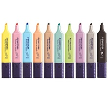 STAEDTLER 364C Pastel Classic Highlighter Pen 1-5mm Line Color Marker Liner Highlight Pens for Paper Fax Drawing School E6112