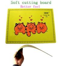 A4 разделочная доска ПВХ прямоугольная сетка линии самовосhealing вающийся режущий коврик инструмент Ткань Кожа бумага ремесло DIY инструменты режущие пластины Pad