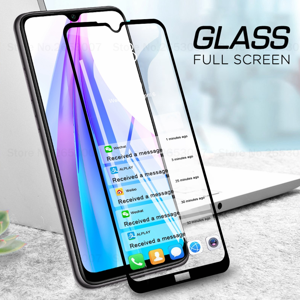 3D Full Cover Tempered Glass For Xiaomi Redmi Note 8T Note 7 Pro 8 Pro Screen Protector Cover Case Glass For Xiaomi Redmi 7A 8A(China)