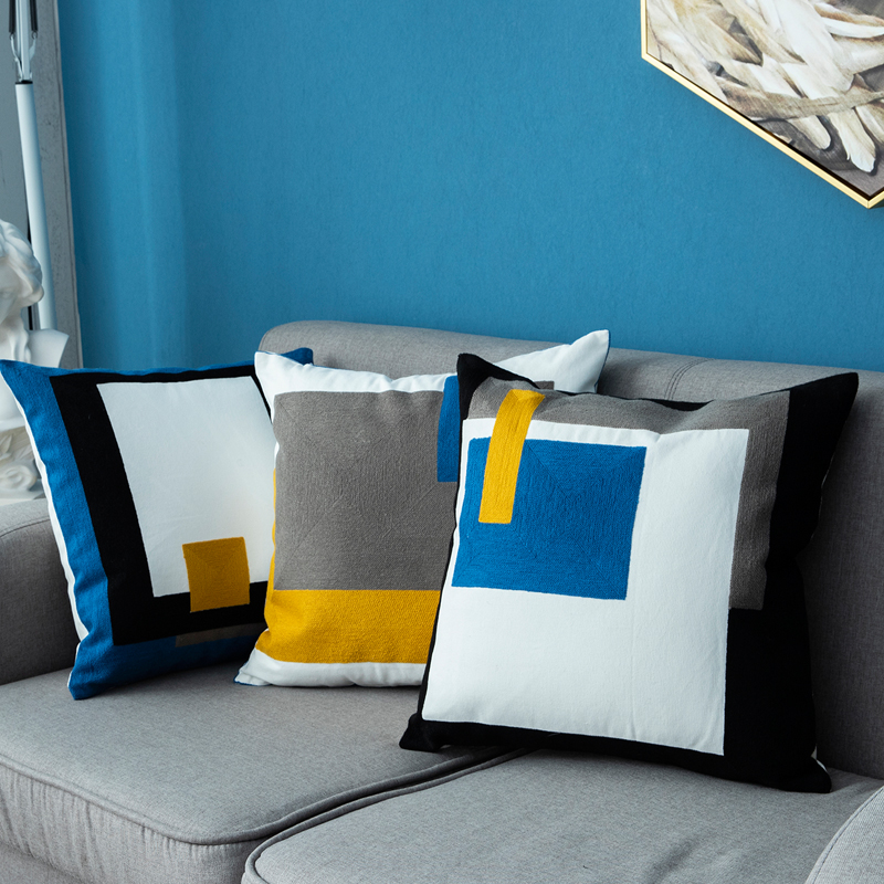 Home Decoration Cushion Cover 45x45cm Pillow Cover Modern Style  Soft Cozy Emboridery Home Decoration For Living Room Bed Room