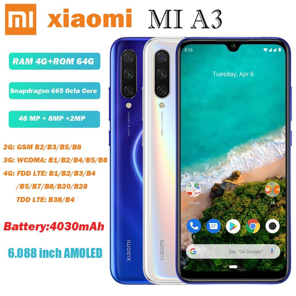 Legend Coupon Xiaomi-Mi-A3-6-088-inch-AMOLED-48MP-Triple-Rear-Camera-4GB-64GB-4G-Smartphone-смартфон Smart phone