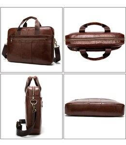 Image 4 - WESTAL mens briefcase bag mens genuine leather laptop bag business tote for document office portable laptop shoulder bag  8523