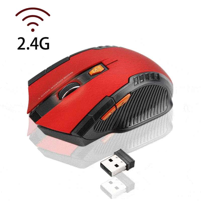 USB ワイヤレスマウス 1600 Dpi 調整可能な USB 2.0 レシーバー光コンピュータマウス 2.4GHz 人間工学マウスノート Pc 用マウスゲーマー