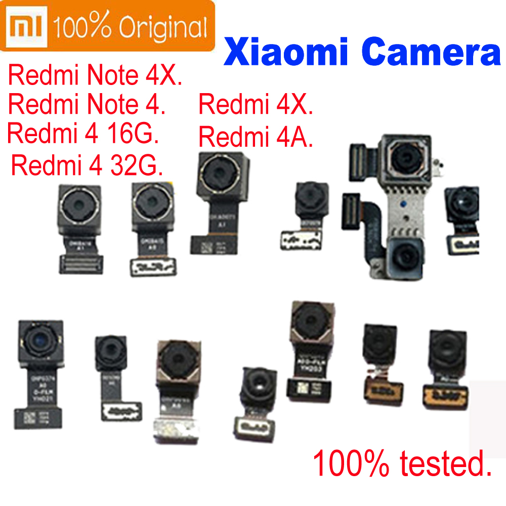 Original tested Front or Back Rear Camera Flex Cable Module For Xiaomi Redmi 4 Pro Prime Redmi note 4 4X global /China/MTK(China)