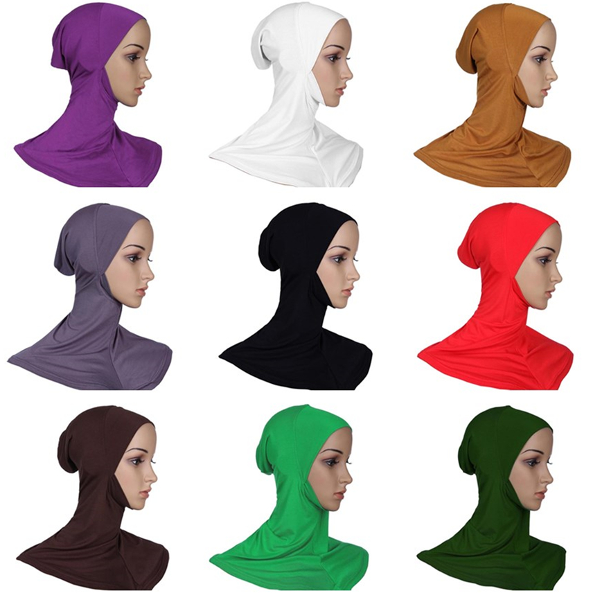 Wholesale Quality 30 Colors Turban Hijab Caps Adjustable Modal Muslim Bonnet Instant Headscarf Femme Musulman