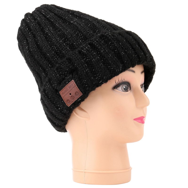 Unisex Winter Bluetooth4.0 Headset Flanging Hats Headphone Music Player Hat Earphone Acrylic Cap
