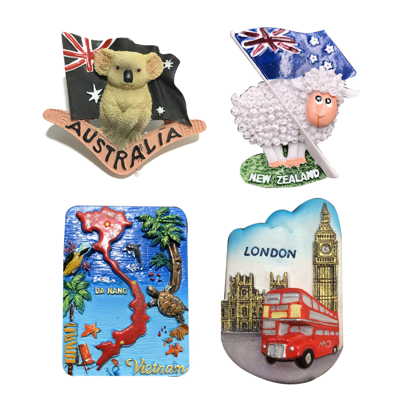 Magnetic <font><b>Souvenir</b></font> <font><b>Fridge</b></font> <font><b>Magnet</b></font> Sticker <font><b>New</b></font> <font><b>Zealand</b></font> Flag Sheep London Bridge Sydney Opera House Vietnam Refrigerator stickers image