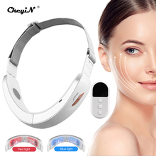 CkeyiN V Line Face Lifting Slimming Chin LED Photon Therapy V-shaped Lift Belt Machine Lifting Device Face Galvanic Massager
