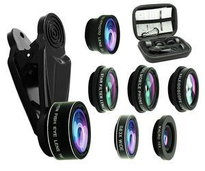 Image 1 - Tokohansun hd 7in1カメラ電話レンズ4 18kワイドマクロレンズ肖像スーパー魚眼レンズcplフィルターiphone 7 8サムスンのスマートフォン