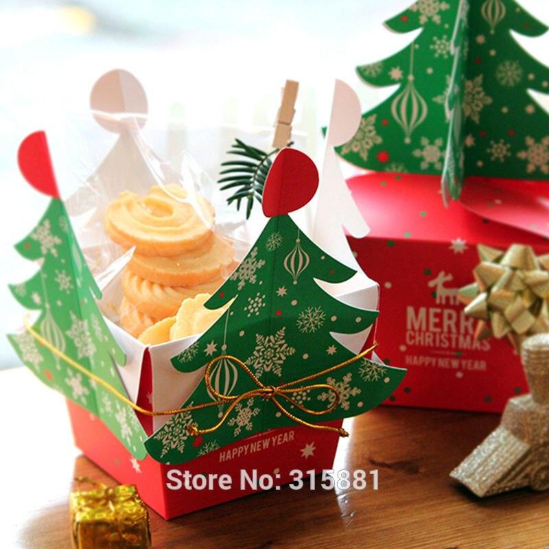 Image 4 - Caixa de presente da árvore do feliz natal, caixas de papel do  alimento do cholocate do biscoito, caixa da maçã do natal, caixa de  presente do natal 30 pçs/lotebox boxbox gift boxlot lot