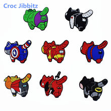 1Pc Marvel Avengers superbohater Cosplay Batman Cartoon Anime buty Charms Fit Croc Jibz buty/bransoletka prezent na boże narodzenie(China)