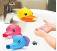 Kid Wasserhahn Extender Waschbecken nette Tiere design Baby Wannen Kinder Hand Waschen Waschbecken Griff Verlängerung Kleinkind