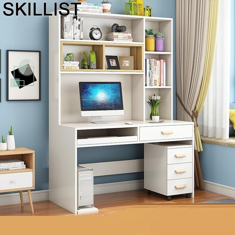 Stand Lap Pliante Tavolo Office Furniture Tisch Para Notebook Standing Mesa Tablo Desk Bedside Computer Table With Bookshelf