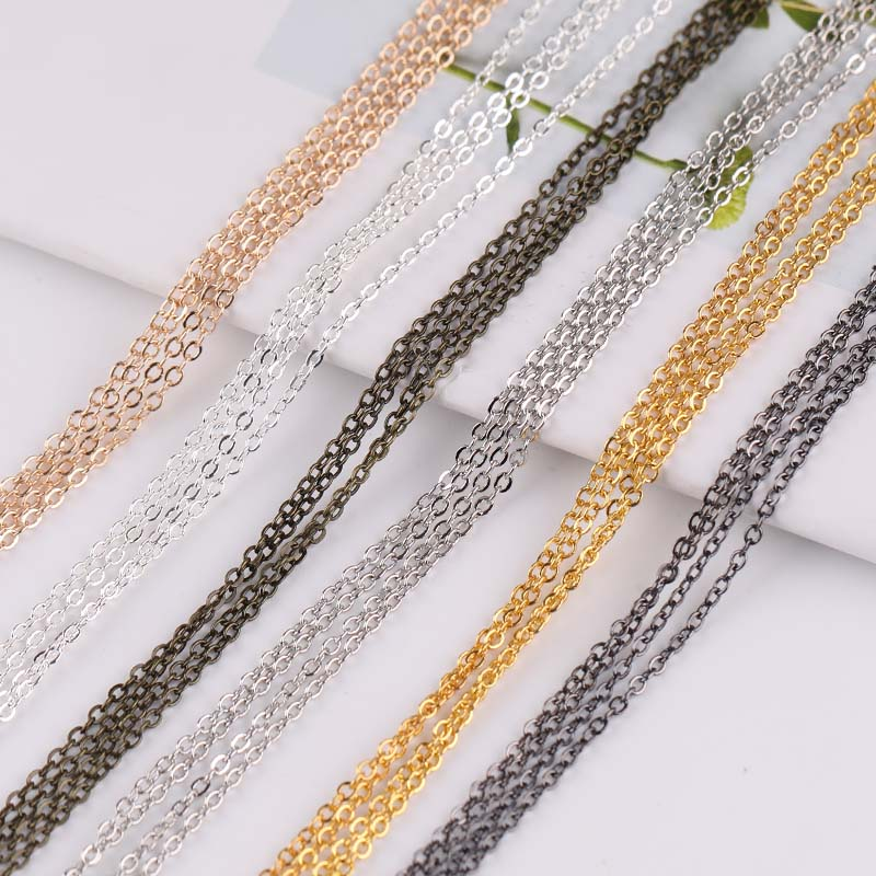 Diy Superfine Clavicle Necklace Bracelet Tassel Chain Cross Chain Jewelry Accessories Material