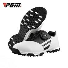 PGM запатентованная детская обувь для гольфа водонепроницаемые спортивные кроссовки Нескользящие шипы обувь носимая дышащая обувь D0847