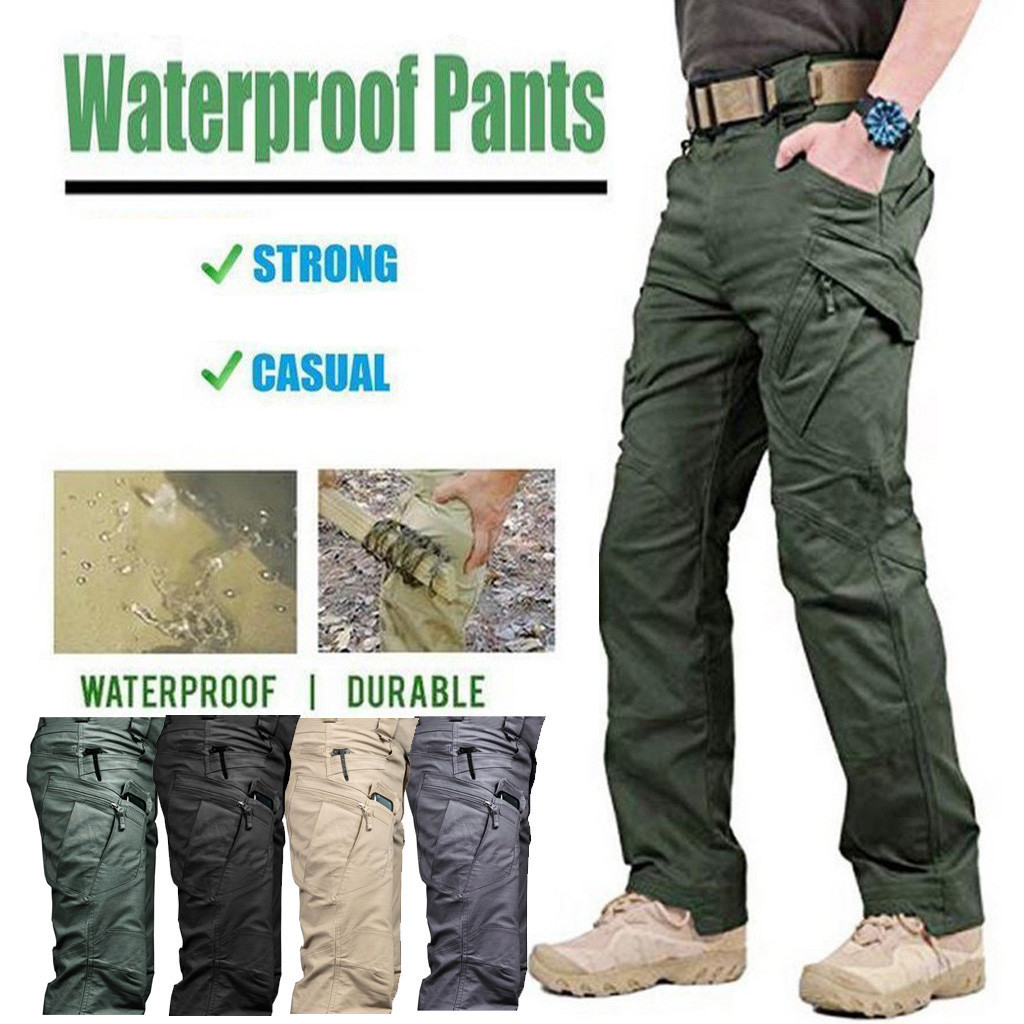 Hip Hop Scratch-proof Waterproof Pants For Outdoor Camping Climbing Jaqueta Pantalones Hombre Cargo Pants Men Spodnie Meskie