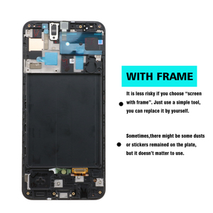 "Image 3 - 100% Super AMOLED 6.4 ""LCD Voor Samsung galaxy A50 2019 A505F/DS A505F A505FD A505A Touch Screen Digitizer vergadering met frame"