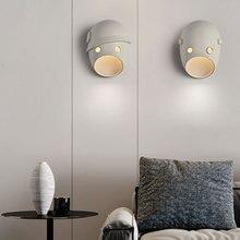Creativa máscara de dibujos animados forma niños lámpara de pared moderna y Vintage LED Luz de pared para la decoración del hogar Alise pasillo del dormitorio