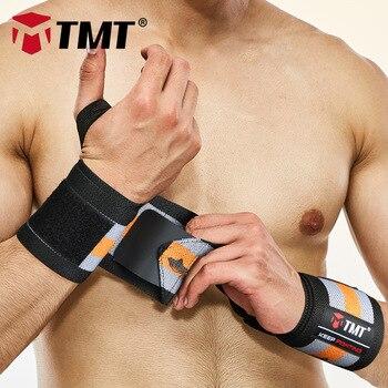 TMT Handgelenk Strap Gewichtheben Hand Wraps Crossfit Hantel Powerlifting Handgelenk Unterstützung Sport Armband Verband Ausbildung Sicherheit