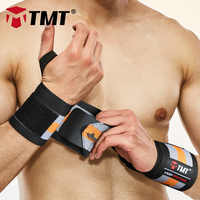 TMT Wrist Strap Weight Lifting Hand Wraps Crossfit Dumbbell Powerlifting Wrist Support Sport Wristband Bandage Training Safety