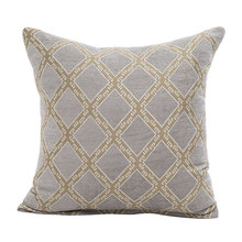 45*45cm luxury coffee cushion covers no inner plaid geometric decoration chenille throw pillow on bed chair X59