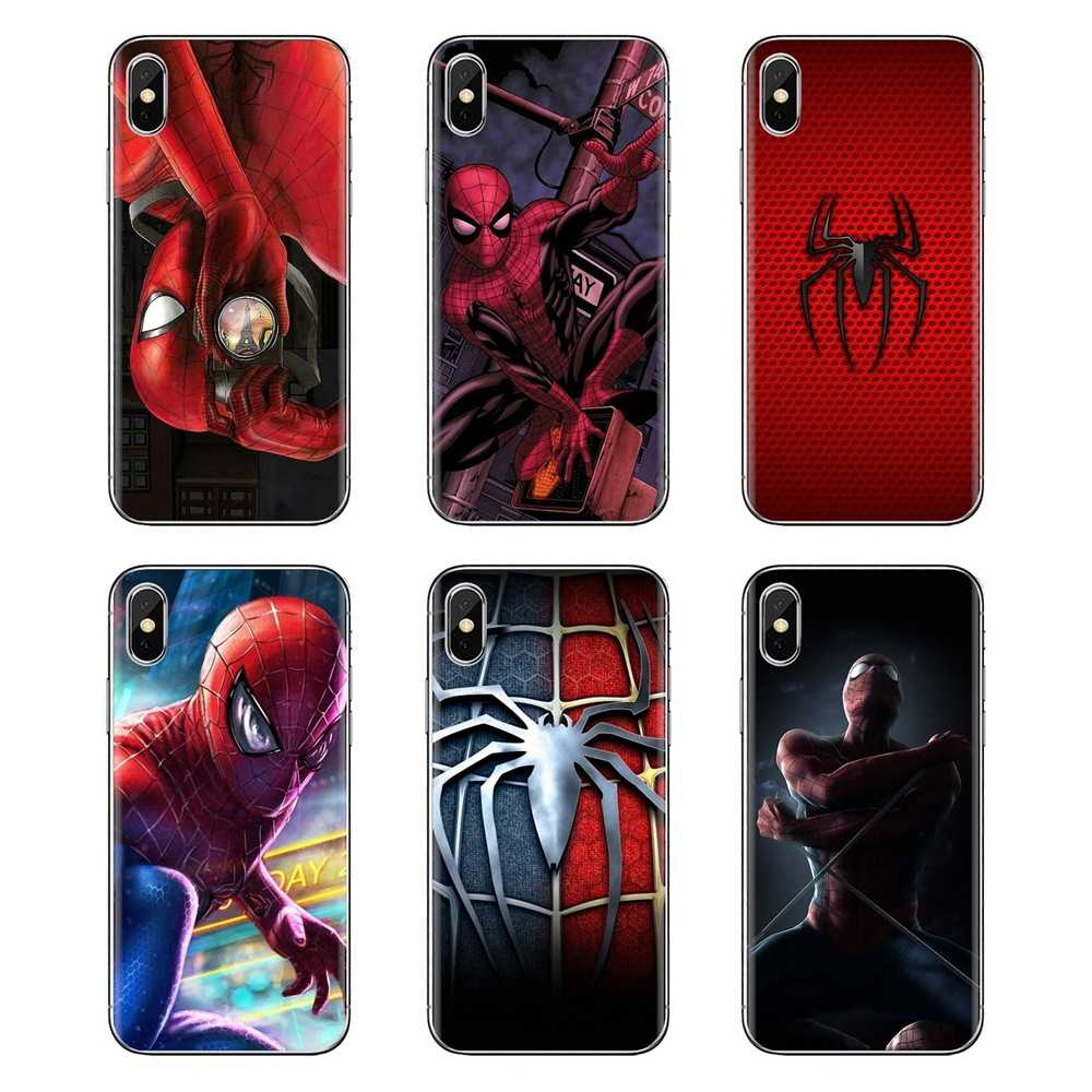Cassa del Telefono del silicone Della Cassa Della Pelle Per iPod Touch di Apple iPhone 4 4S 5 5S SE 5C 6 6S 7 8 X XR XS Plus. MAX Spiderman Spider Man Marvel Venom