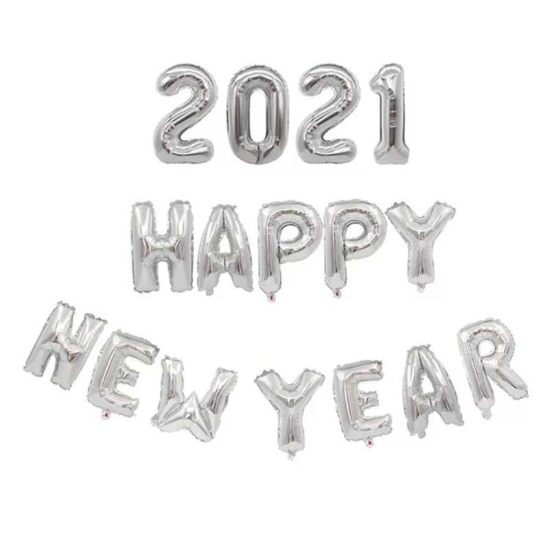 T8NA Best Selling 2021 Happy New Year Balloon Home Classroom Shop Decoration