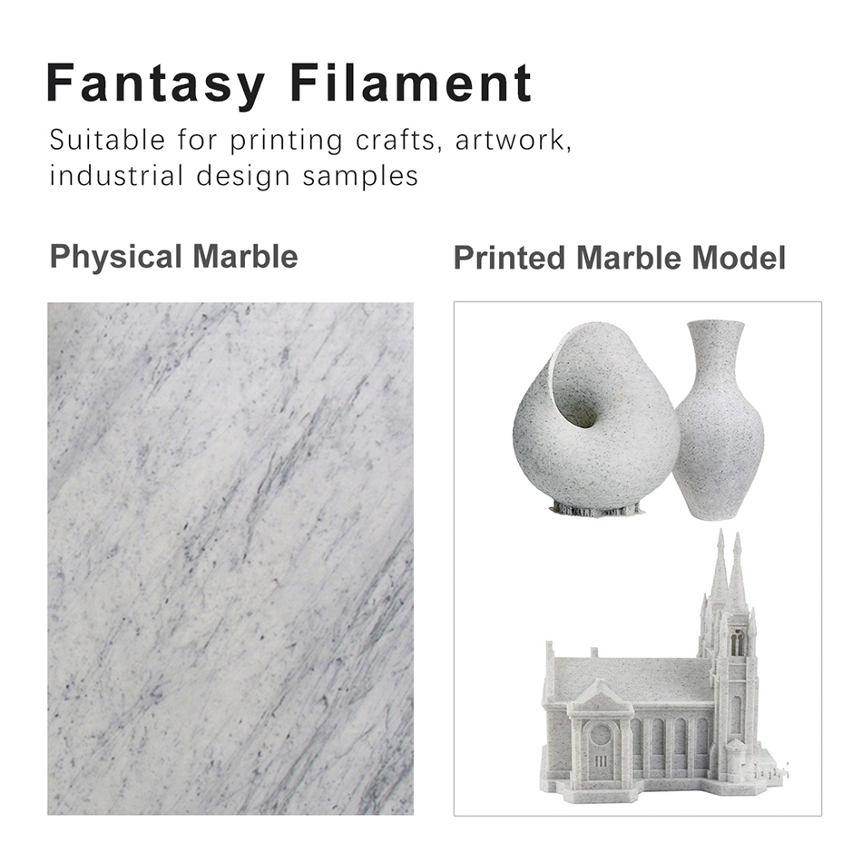 lowest price SUNLU PLA Marble Filament 1 75mm 1kg Plastic PLA 3d Filament For 3D Printer New Arrival 3D Printing Material