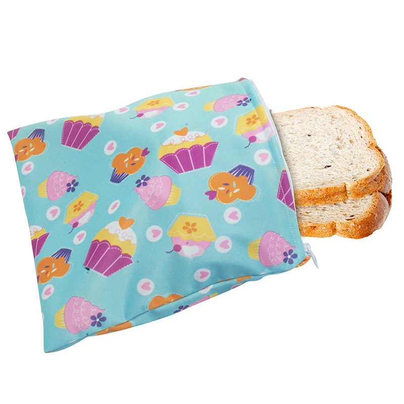 3pcs//SET Reusable Snack Bag Waterproof Bread Sandwich Bag Pouch For Camping