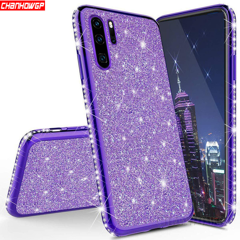 Luxury Diamond Soft Case For Huawei Y5 Y6 Y7 Y9 Prime 2019 P Smart Plus Z Mate 30 Honor 8A 8S 8C 8X 9X 20 Pro Silicone Cover(China)