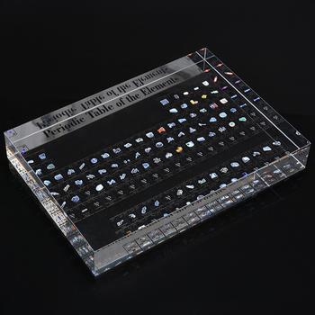 1pc elementy akrylowe okresowe biurko wyświetlacz okresowy wystrój stołu elementy chemiczne oprawione dla studentów nauczyciele prezent rzemiosło artystyczne tanie i dobre opinie CN (pochodzenie) Z tworzywa sztucznego