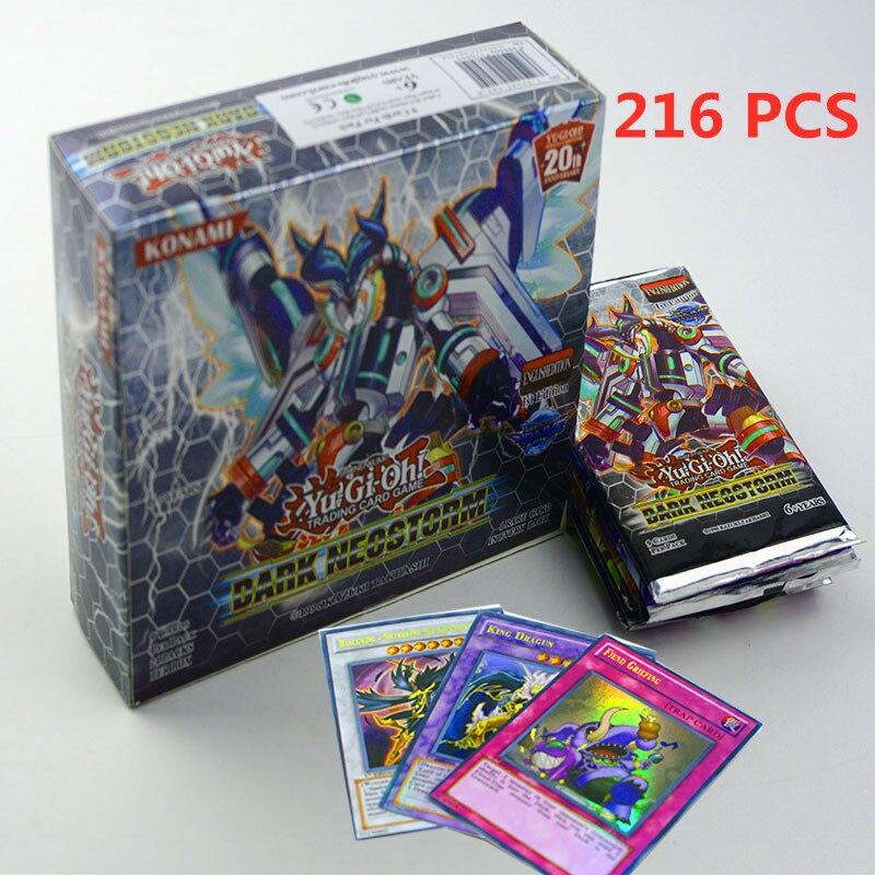 9PCS 18PCS 216pcsGame YGO YuGiOh Playing Cards Cartoon Cards Yugioh Gaming Cards Japan Boy Girls Yu-Gi-Oh Cards Collection Toys