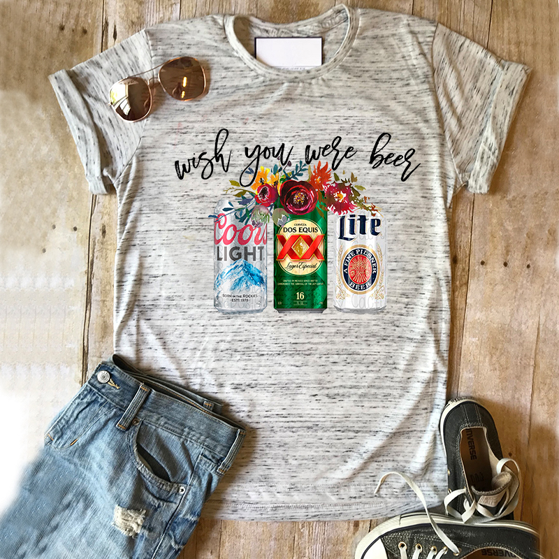 Coors Light Shirt Beer Succulent Tshirt Beer Tee Drinking Tops Girls Summer Miller Lite Top Mama Clothes Print Shirts